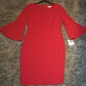 CK red dress size 10